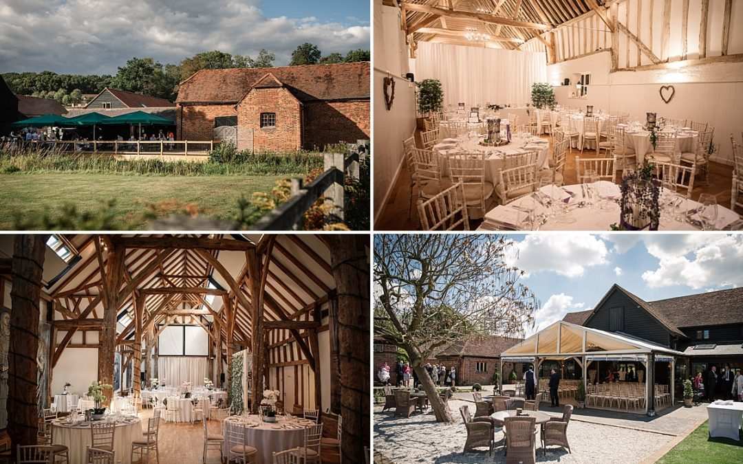 Four of the best Barn wedding venues in hertfordshire, Tewin Bury Farm, Alswick Barn, Henry Moore Foundation and Coltsfoot Country Retreat, taken by Becky Harley Photography