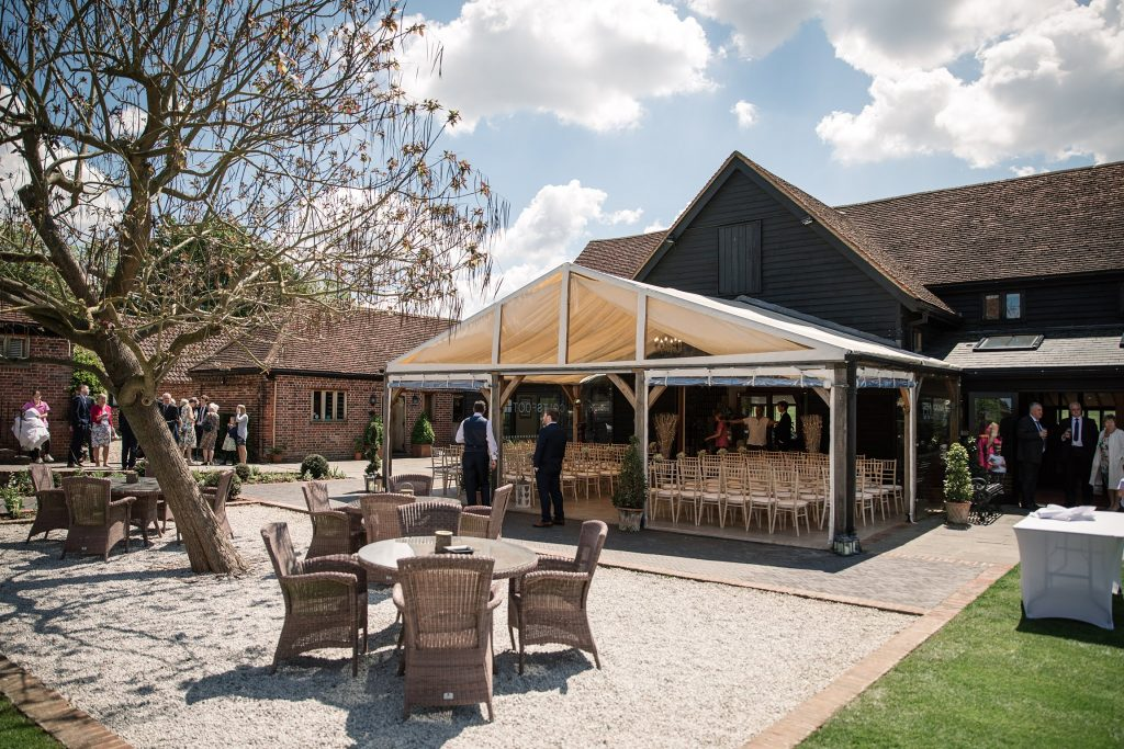 Exterior of Coltsfoot Country Retreat, one of the best barn wedding venues in Hertfordshire. Taken by Becky Harley Photography