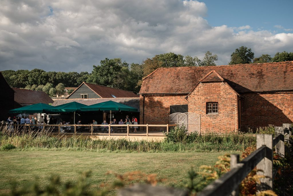 Exterior of Tewin Bury Farm, one of the best barn wedding venues in Hertfordshire. Taken by Becky Harley Photography