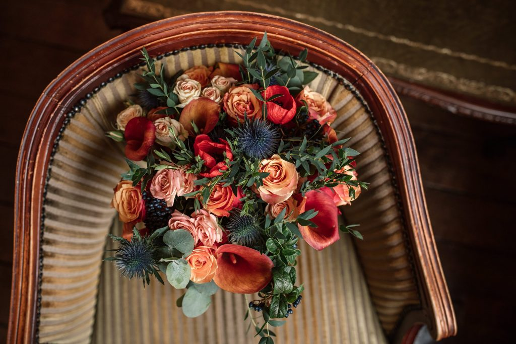 can i plan a wedding in six months? bridal flowers taken by Becky Harley Photography