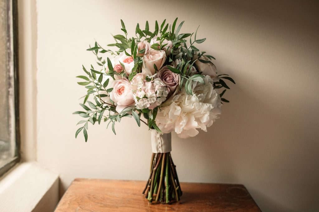Brides bouquet at Shuttleworth Collection Wedding, taken by Becky Harley Photography