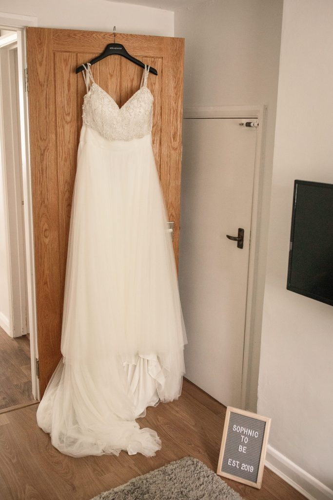 Justin Alexander wedding gown at Granary Estates Wedding taken by Becky Harley Photography