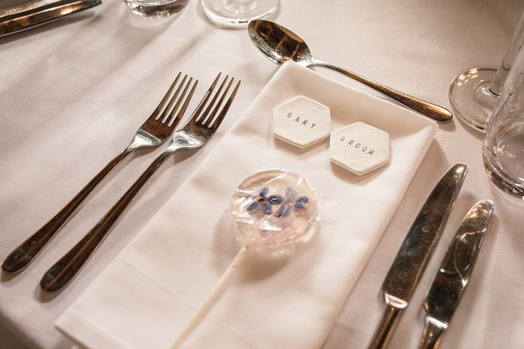 Wedding favours at Granary Estates Wedding taken by Becky Harley Photography