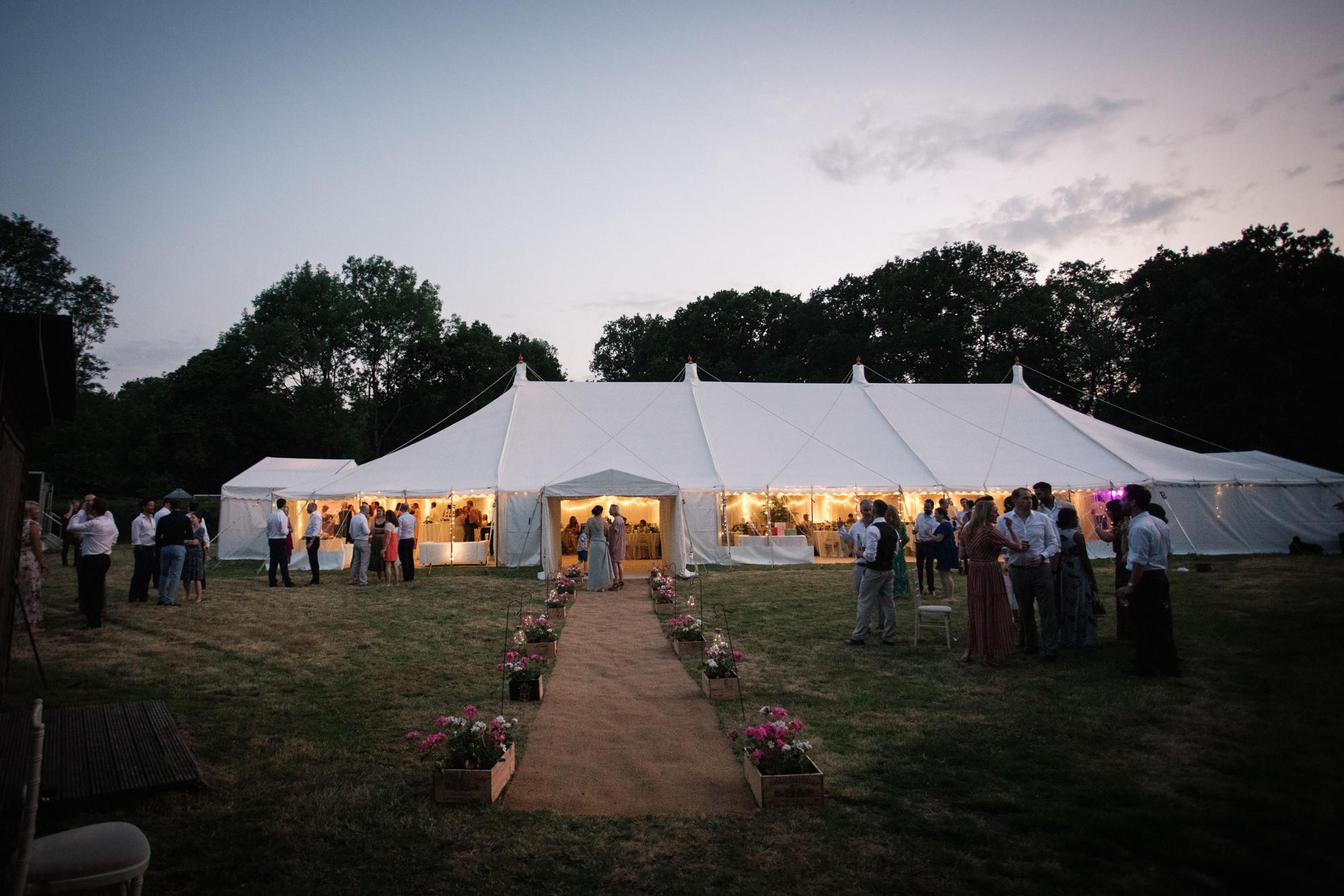 Outdoor marquee wedding