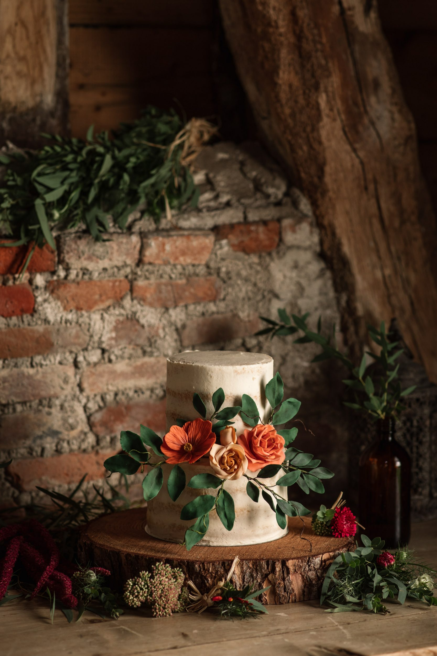 Wedding Cake at Suffolk Barn Wedding Shoot
