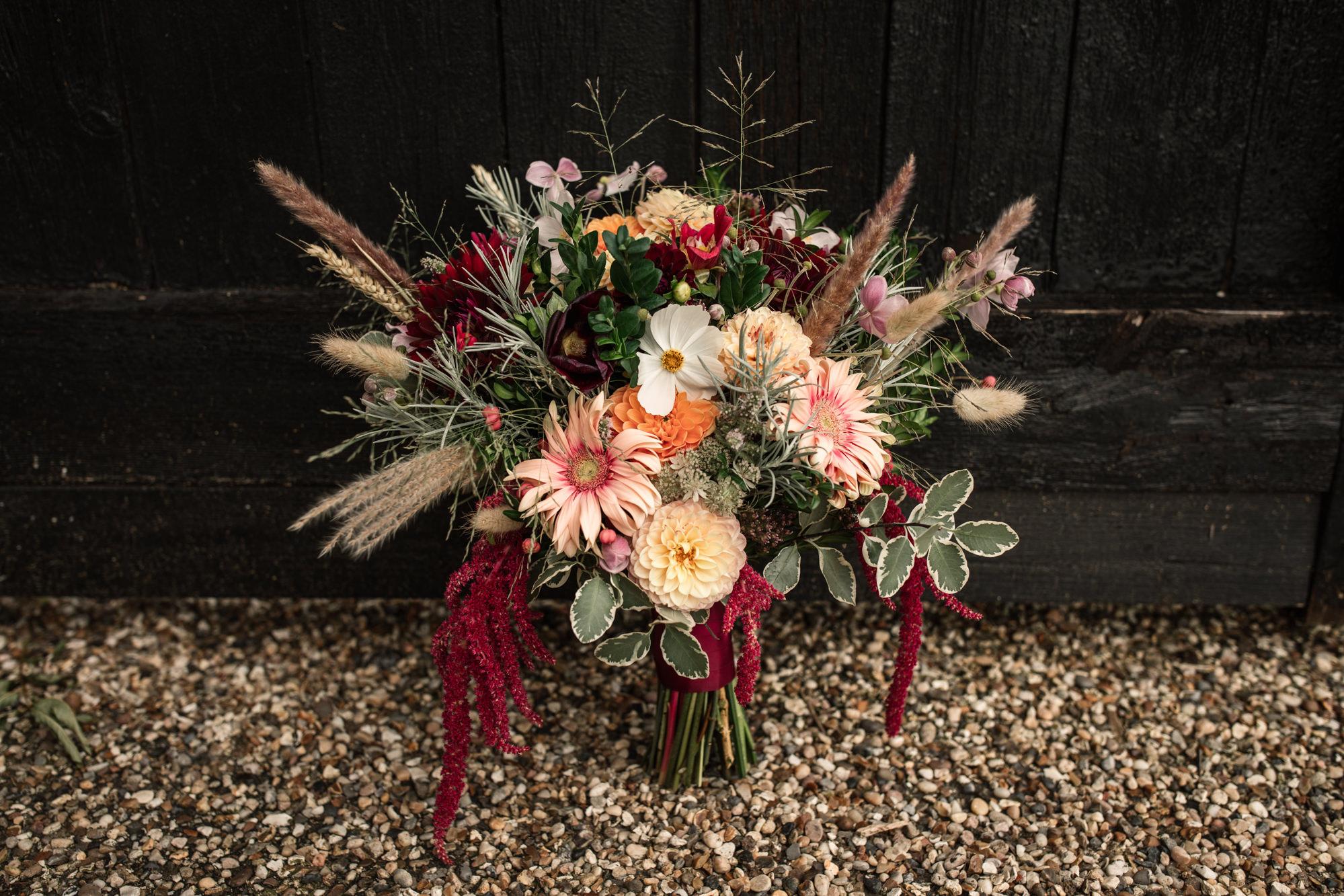 Wedding Bouquet Suffolk Barn Wedding Photographer
