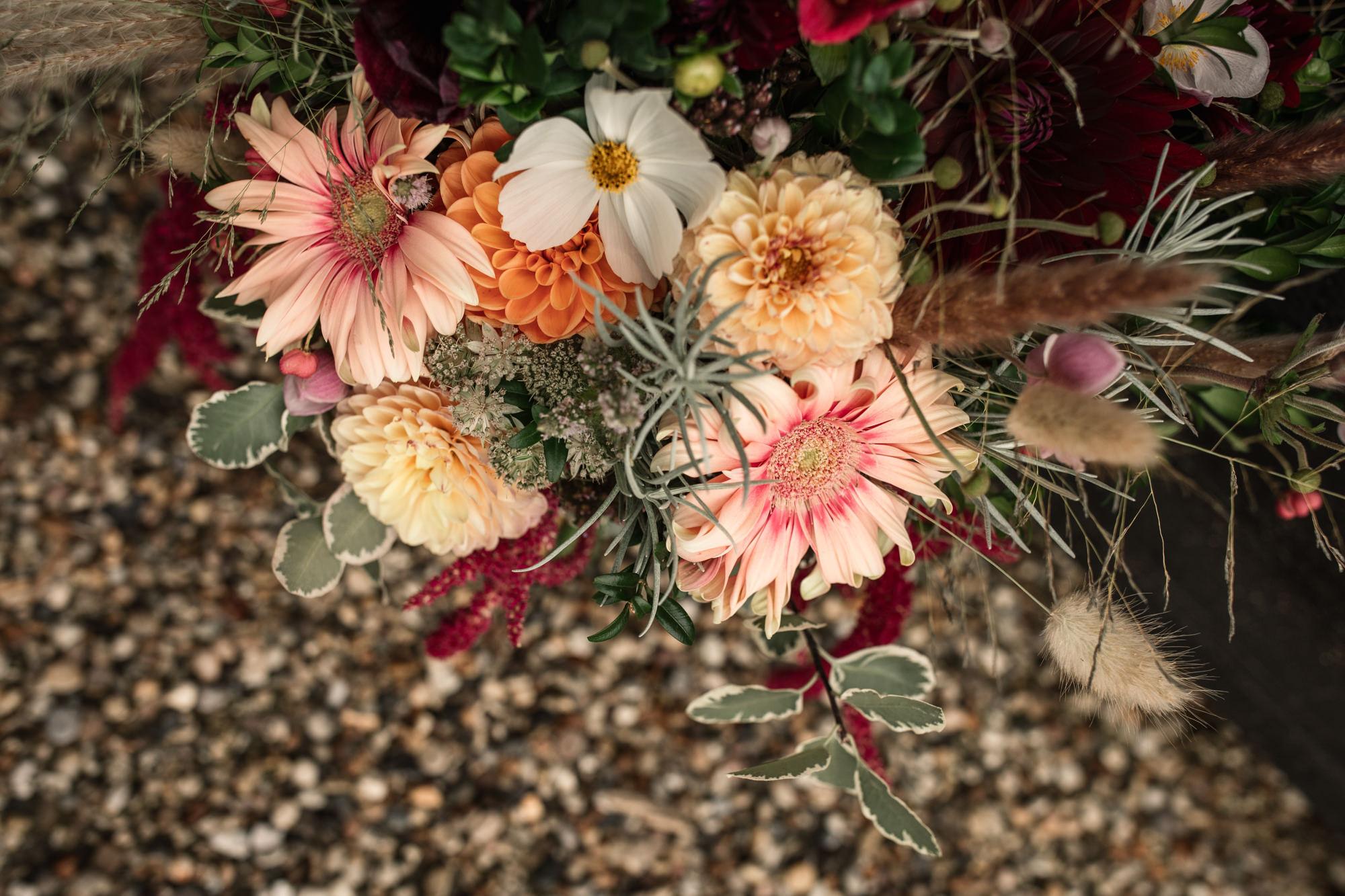 Wedding Flowers Suffolk Barn Wedding Styled Shoot