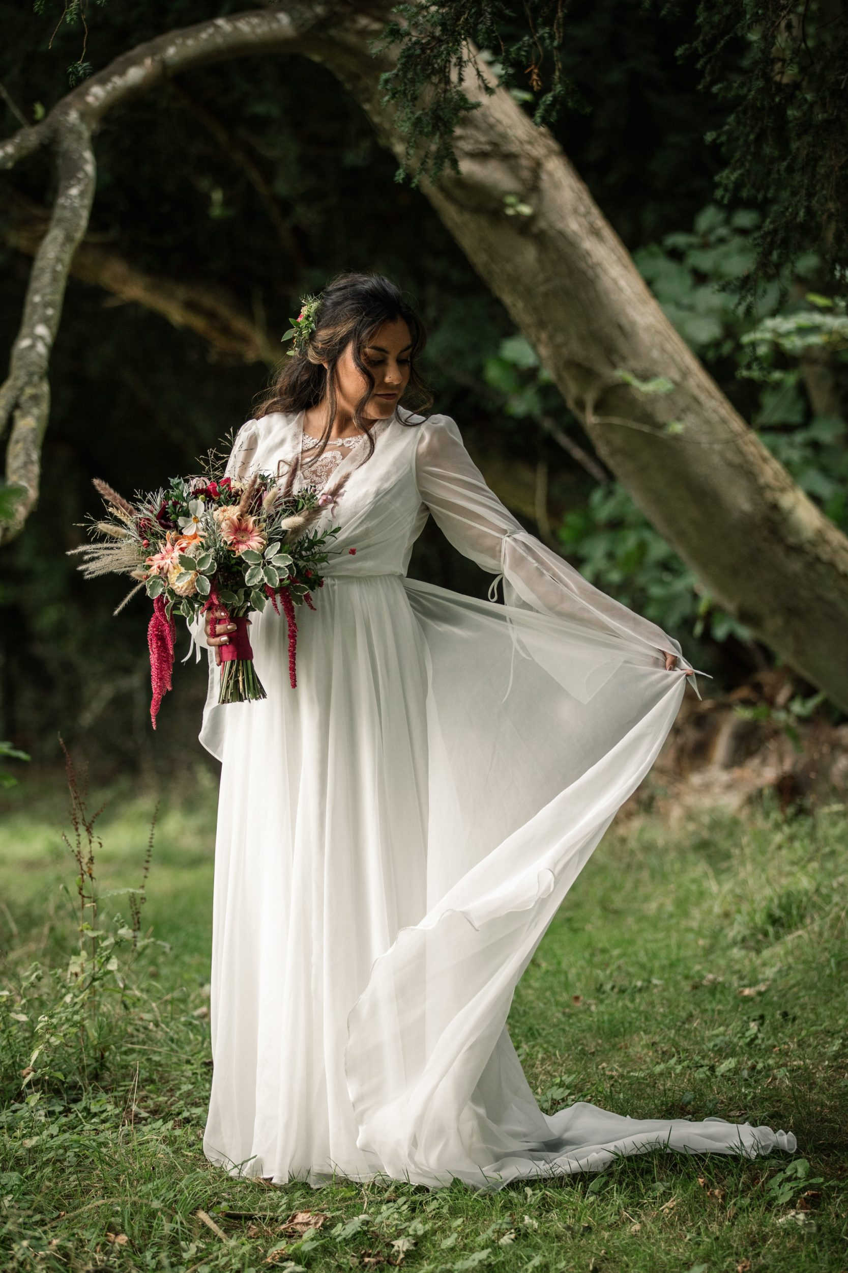 Bride styled shoot for Suffolk Barn Wedding Photographer