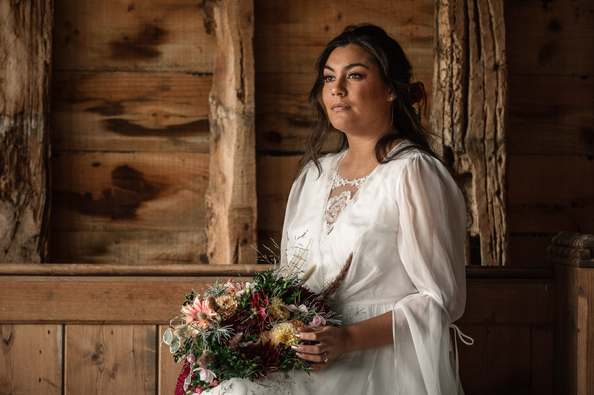 Bride at Suffolk barn Wedding shoot for Suffolk Barn Wedding Photographer