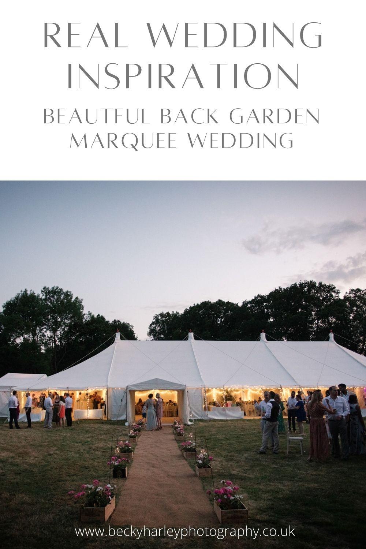 Real Back Garden Marquee Wedding