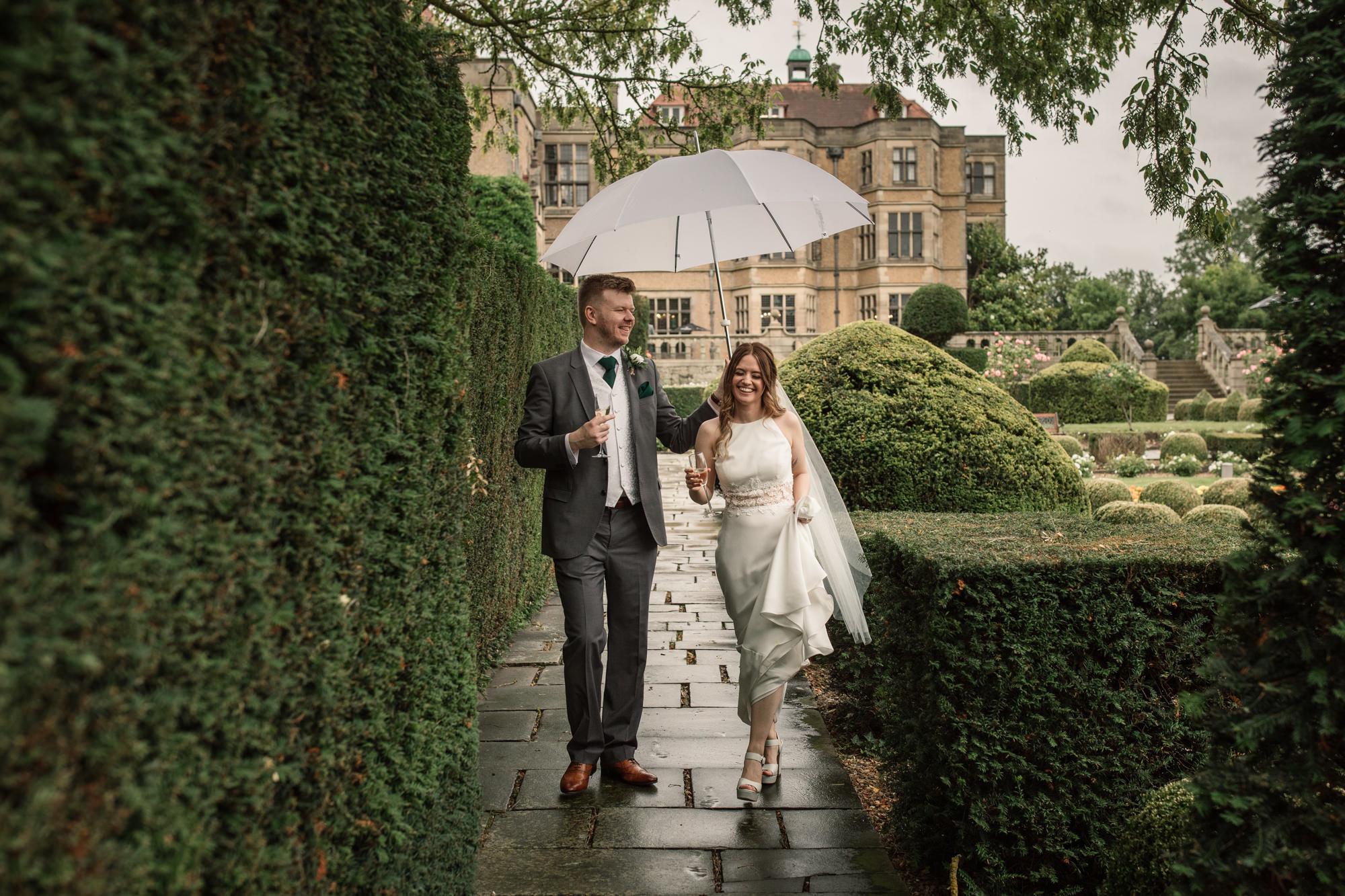 Rainy Summer Wedding at Fanhams Hall